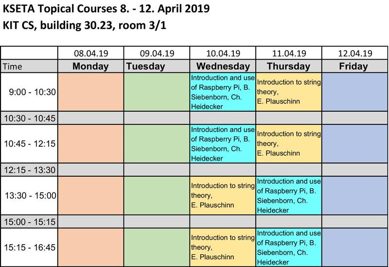 KIT - KSETA -Training Program - Topical Courses