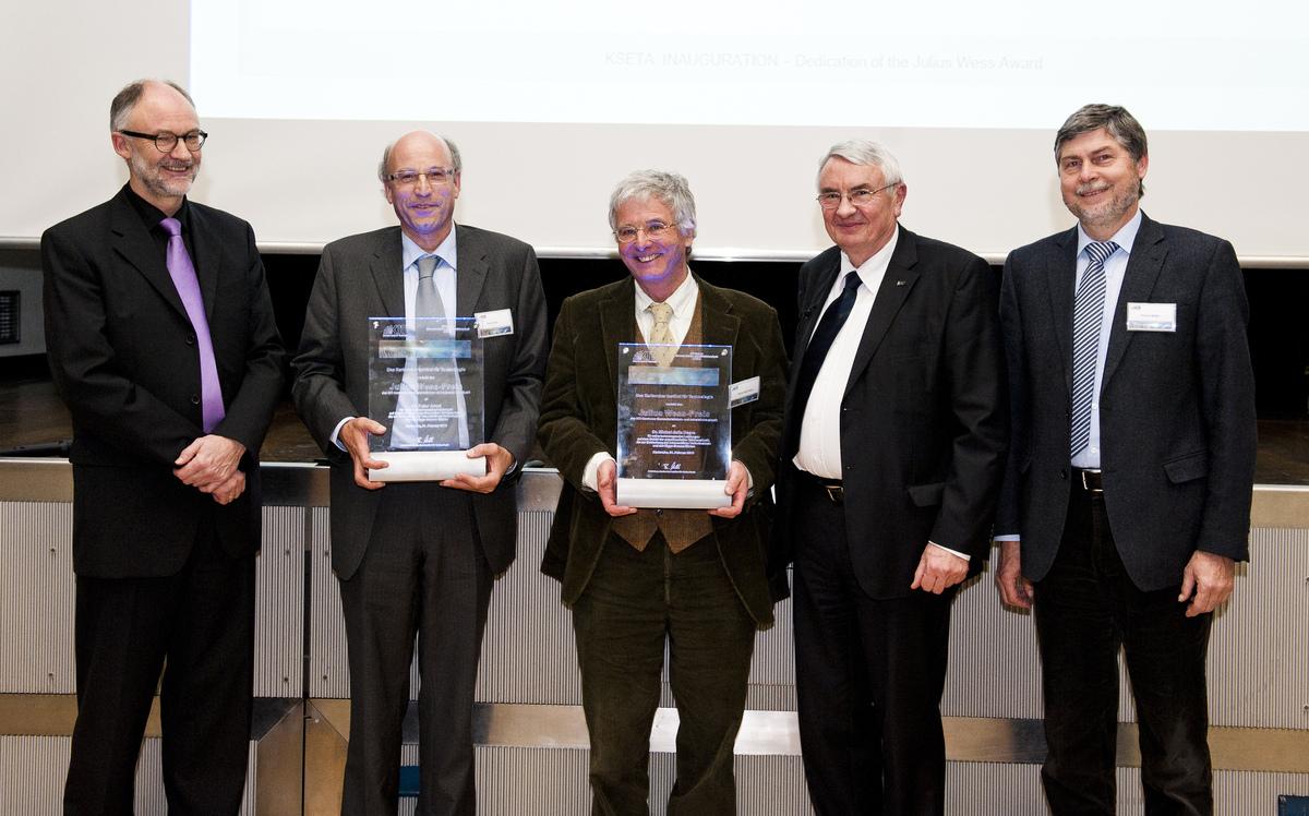 Verleihung des Julius Wess Preises <br/> an Peter Jenni und Michel Della Negra